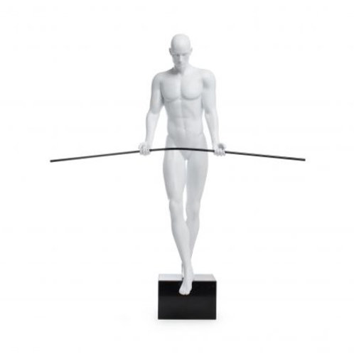 BALANCING MAN SCULPTURE WHITE