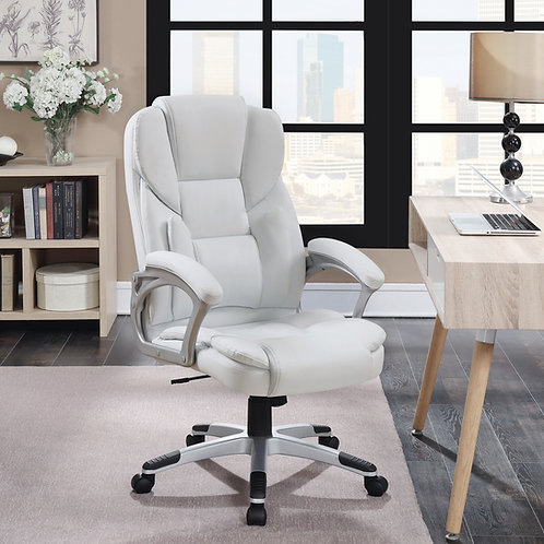 #007 Adjustable Height Office Chair White
