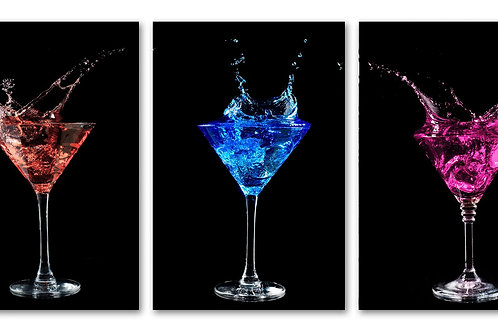 #023 3PC NEON MARTINI GLASS WALL