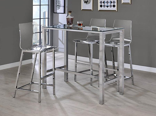 #006 COUNTER HEIGHT TABLE W/4 BAR STOOL