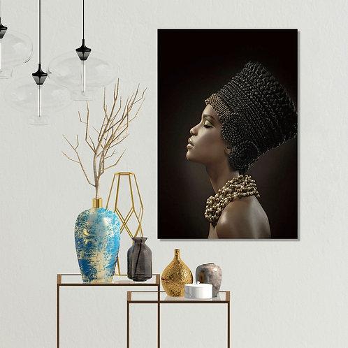 #056 BLACK WOMAN GLASS ART