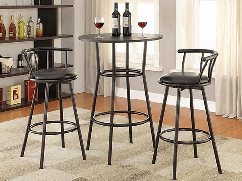 #010 RUSTIC COUNTER HEIGHT TABLE-2 BAR STOOL