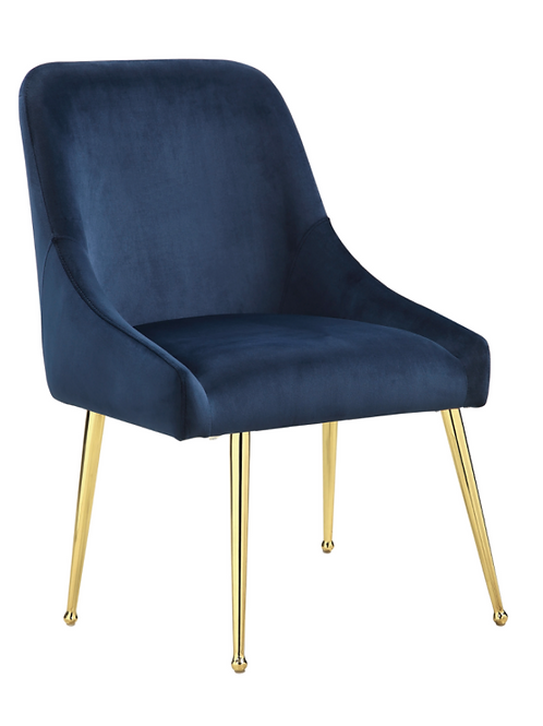 #005 SIDE CHAIRS DARK IN BLUE & GOLD