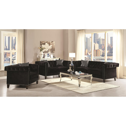 Reventlow Sofa with Greek Key Nailhead Trim Design/Loveseat