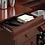 Thumbnail: #012 DRAWER BAR UNIT MERLOT AND BRUSHES BRASS