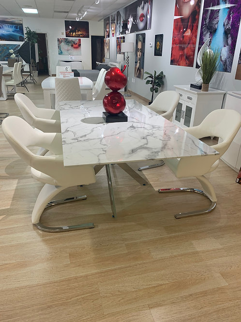#052 MARBLE FINISH TABLE OF DINIGN SET