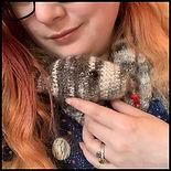 Image of Nekodra & a crocheted snake