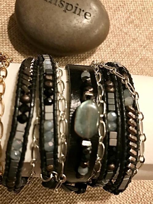 Choker/Wrap Bracelet Noir