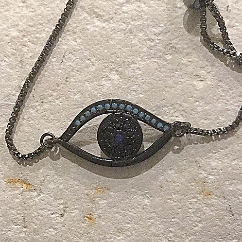 Colored crystal God's Eye Bracelet