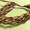 Thumbnail: Crystals and Chain Braid Bracelet-Coppertone