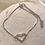 Thumbnail: Silver Crystal Heart Bracelet