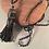 Thumbnail: Faux Leather Tassel - Black