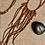 Thumbnail: Orange Agate Fringe Leather Choker