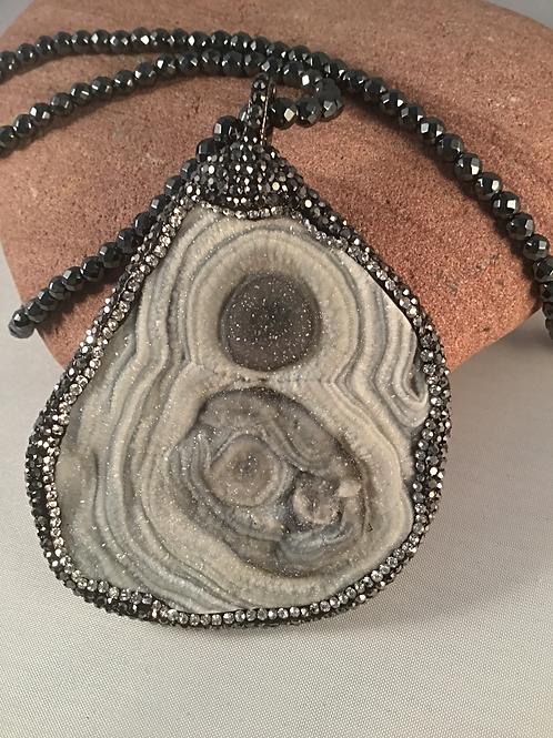 Stone Slice pendant