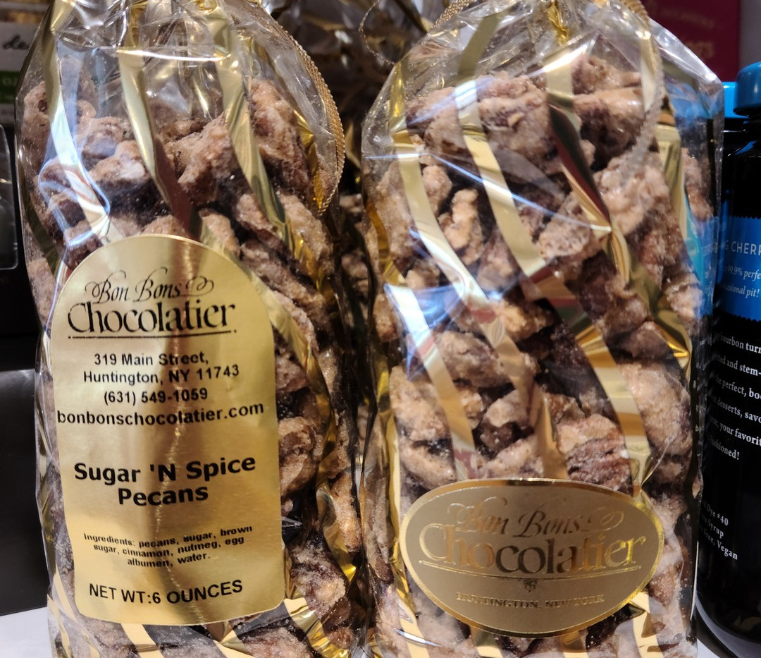 sugar and spice pecans from bon bons cho