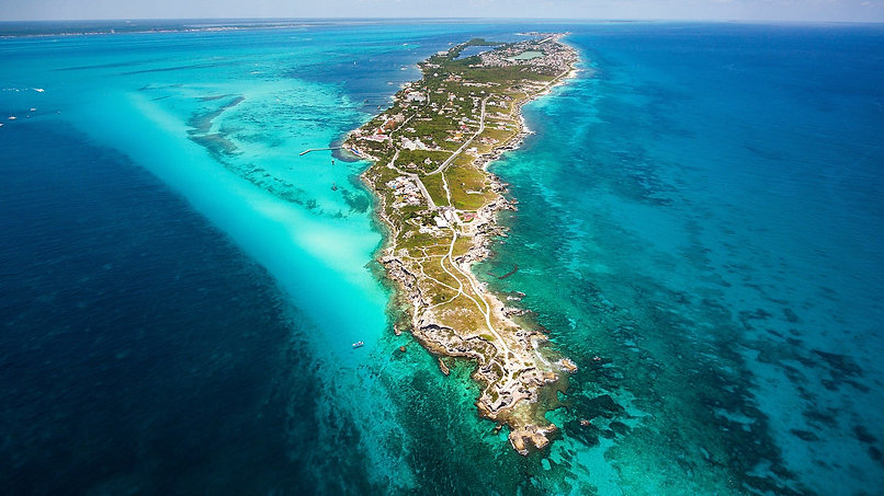 Isla Mujeres View from the South point o