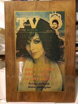 Dynasty TV Week 1981 Plaque