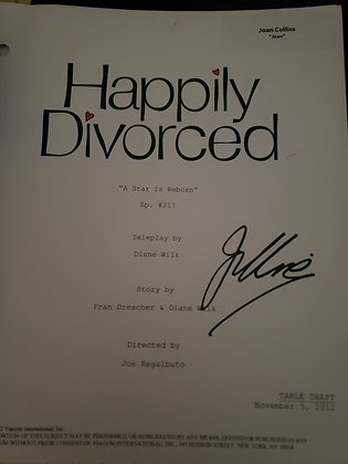 Joan's Personal Script from Happily Divorced - A Star is Reborn
