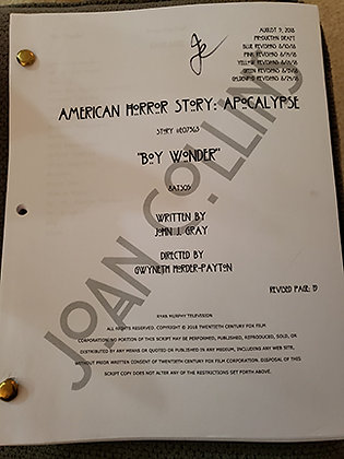 Joan's Personal Script from American Horror Story -Boy Wonder