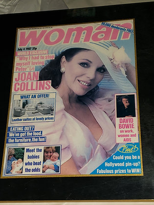 Woman Magazine 1987 Plaque