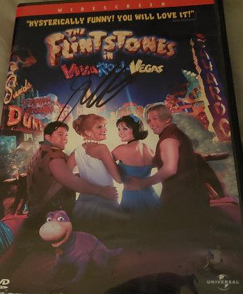 JC Signed The Flintstones Viva Rock Vegas DVD
