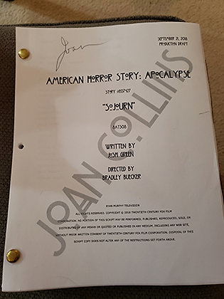 Joan's Personal Script from American Horror Story - Sojourn