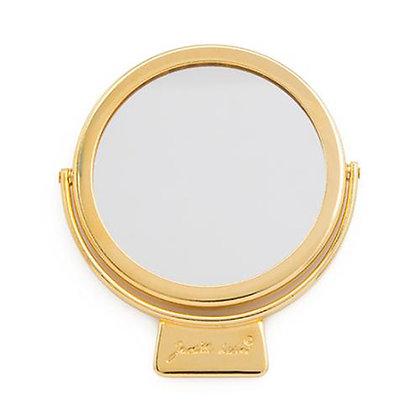 Judith Leiber Golden Travel Mirror