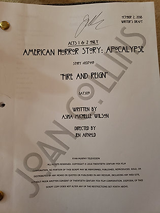 Joan's Personal Script from American Horror Story - Fire and Reign