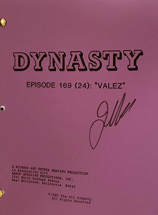 Joan Collins Signed Original Dynasty Script - Valez