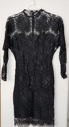 Custom Made Black Lace Dress
