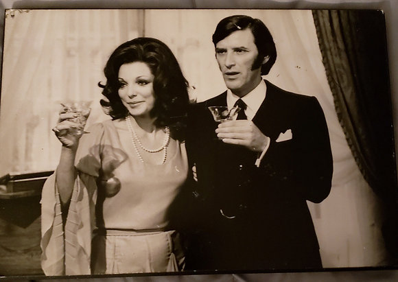Joan Collins Tom Bell Quest for Love Photo Plaque