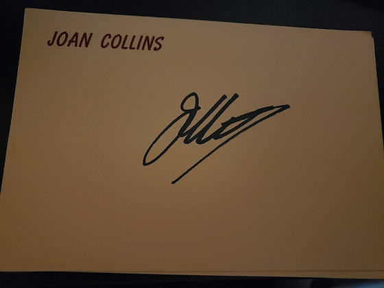 JC Signed Vintage Personal Note Card