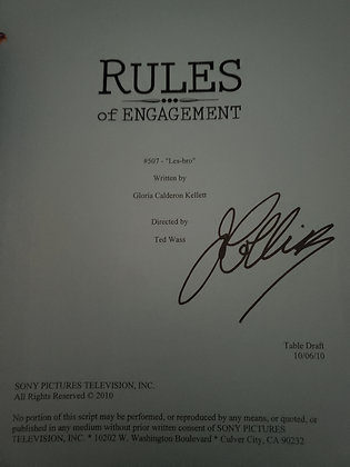 Joan's Personal Script from Rules of Engagement
