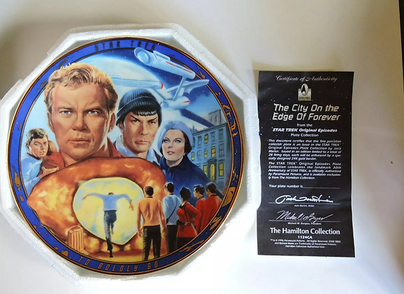 JC Signed Star Trek Plate