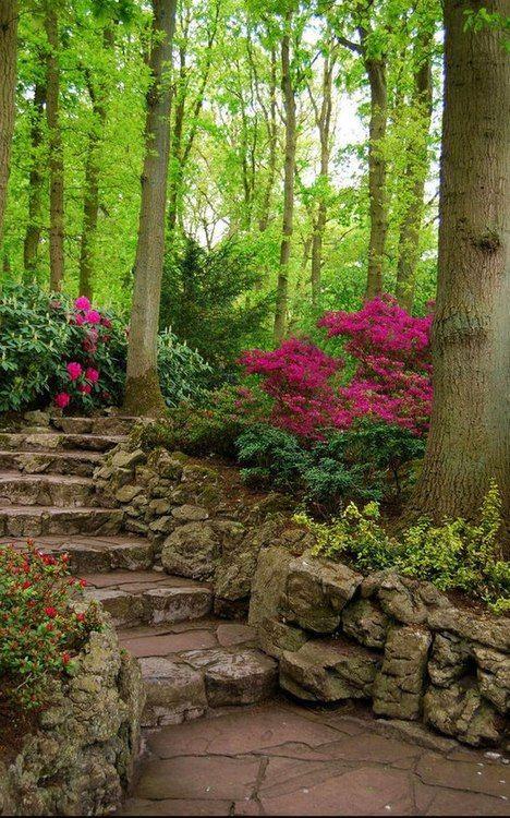Természethű kertbe illő kerti út