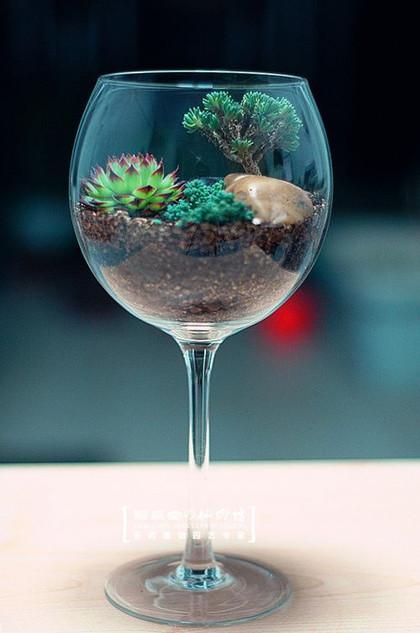 Minikert üvegpohárban