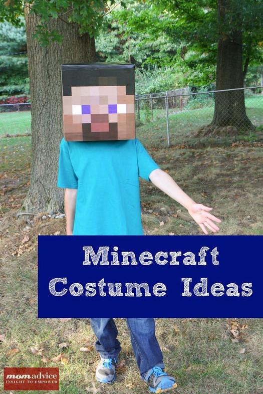 DIY Minecraft Steve jelmez