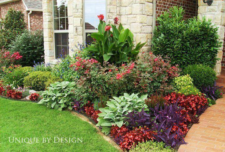 Virágágyás ötlet előkertbe