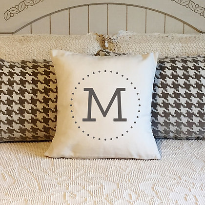 Throw Pillow Cover - monogram