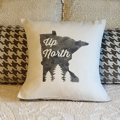 "Throw Pillow - ""Up North"""