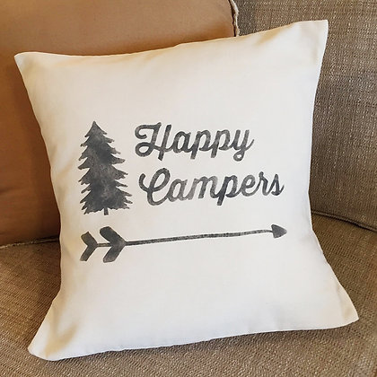"""Throw Pillow - """"Happy Campers"""""""