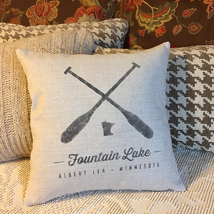 Fountain Lake pillow