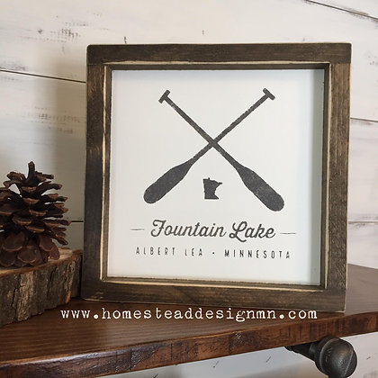 Fountain Lake Sign - large