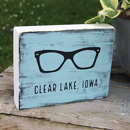 Clear Lake, Iowa Sign - Buddy Holly Tribute
