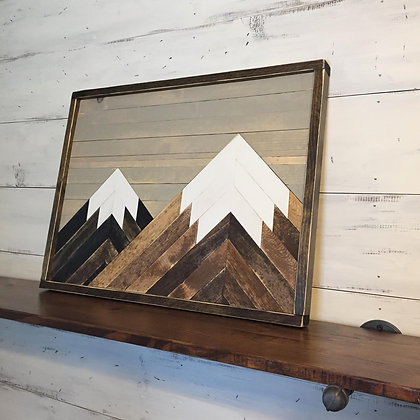 Geometric Mountain Scene