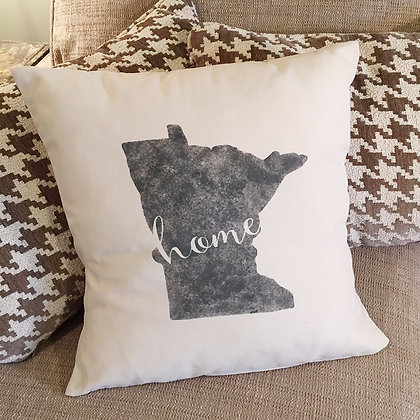 "Throw Pillow - ""Minnesota Home"""