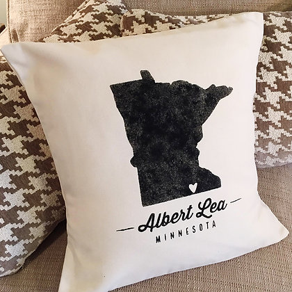"Throw Pillow - ""Hometown Minnesota"""