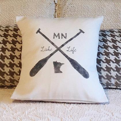 """Throw Pillow - """"Minnesota Lake Life"""""""