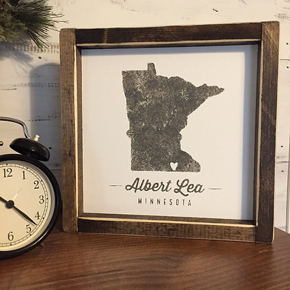 Albert Lea Sign - large