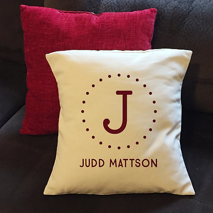 "Throw Pillow - ""Kids' Monogram"""